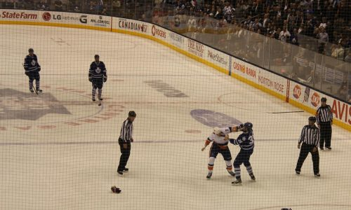 Combat au Hockey