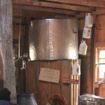 Cuve recevant l'eau d'érable