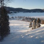 Méga descente en luge (vue sur le fjord)